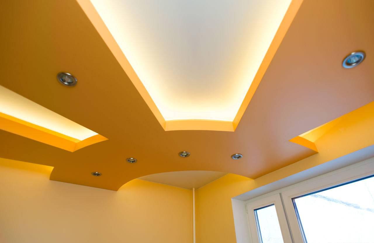 потолок гипсокартон двухуровневый стоимость работы